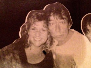 Dana with Eric Burdon of the Animals